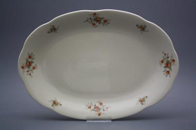 Oval dish 38cm Alaska ECRU Tea roses BB č.1