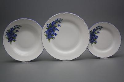 Plate set Ofelia Forget-me-not 12-piece HAL č.1