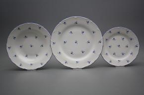 Plate set Ofelia Forget-me-not Sprays 24-piece BAL