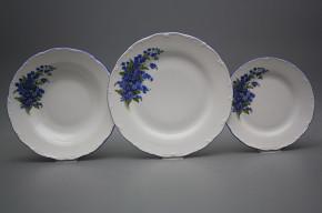 Plate set Ofelia Forget-me-not 24-piece HAL