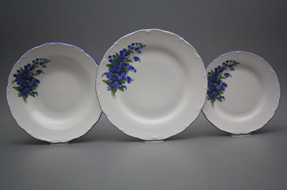 Plate set Ofelia Forget-me-not 24-piece HAL č.1