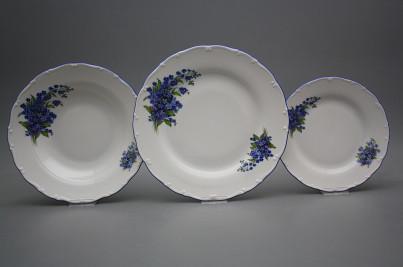 Plate set Ofelia Forget-me-not 36-piece DAL č.1