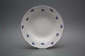 Deep plate 23cm Ofelia Blue roses AML