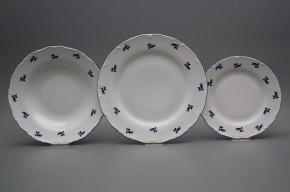 Plate set Ofelia Blue roses 24-piece AML