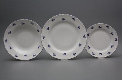 Plate set Ofelia Blue roses 24-piece AML č.1