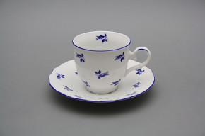 Coffee cup 0,18l and saucer Ofelia Blue roses ML