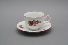 Tea cup 0,18l with saucer Ofelia Elizabeth rose RL
