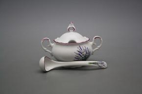 Mustard bowl 0,15l with spoon Ofelia Lavender FL