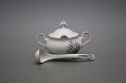 Mustard bowl 0,15l with spoon Ofelia Lavender FL č.1