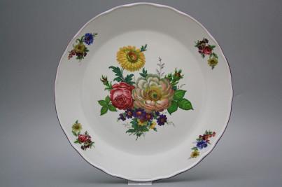 Flat round dish 30cm Rokoko Bouquet GFL č.1