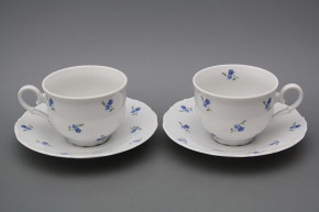 Tea cup 0,18l with saucer Ofelia Forget-me-not Sprays BB