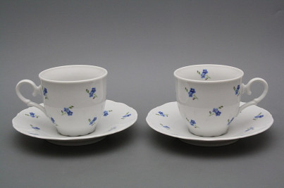 Coffee cup 0,18l and saucer Ofelia Forget-me-not Sprays BB č.1