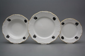 Plate set Marie Louise Rococo dolls 18-piece EGL