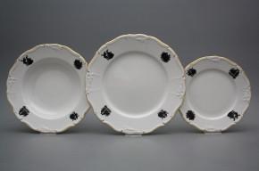 Plate set Marie Louise Rococo dolls 24-piece EGL
