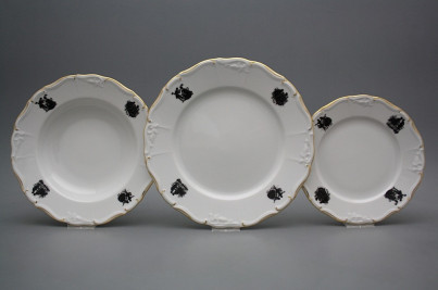 Plate set Marie Louise Rococo dolls 24-piece EGL č.1