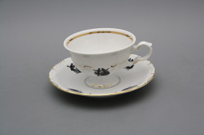 Tea cup 0,16l and saucer Maria Louise Rococo dolls GL
