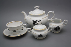 Tea set Marie Louise Rococo dolls 15-piece GL