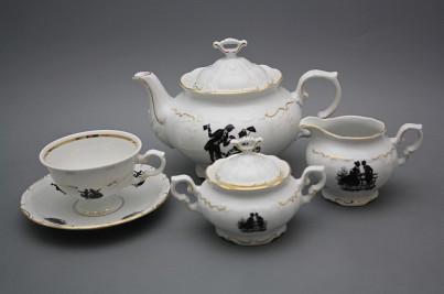 Tea set Marie Louise Rococo dolls 15-piece GL č.1