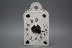Cutting board clock Rococo dolls GL