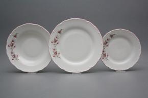 Plate set Ofelia Pink roses 18-piece HRL
