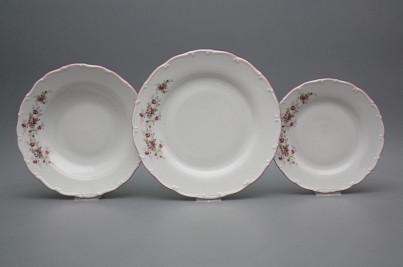 Plate set Ofelia Pink roses 36-piece HRL č.1