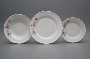 Plate set Ofelia Pink roses 12-piece HRL