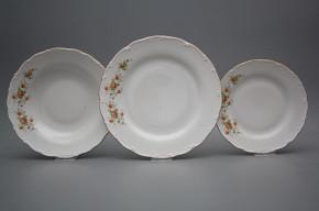 Plate set Ofelia Tea roses 18-piece HHL