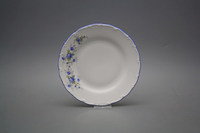 Dessert plate 19cm Ofelia Light blue roses HAL č.1