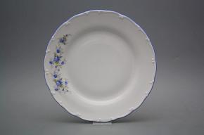 Flat plate 25cm Ofelia Light blue roses HAL