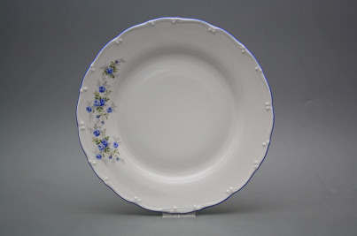 Flat plate 25cm Ofelia Light blue roses HAL č.1