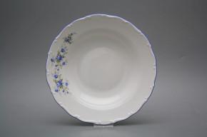 Deep plate 23cm Ofelia Light blue roses HAL