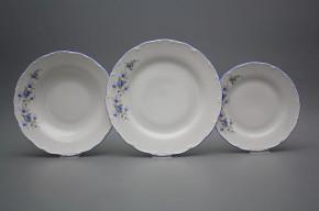 Plate set Ofelia Light blue roses 18-piece HAL