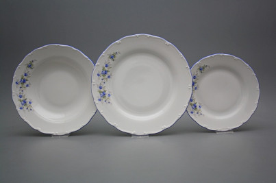 Plate set Ofelia Light blue roses 24-piece HAL č.1