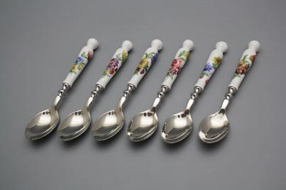 Set of teaspoons Bohemia 1987 Bouquet 6-piece BB č.1