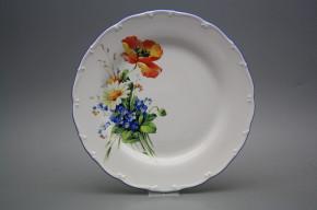 Flat plate 25cm Ofelia Field flowers HAL