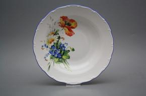 Deep plate 23cm Ofelia Field flowers HAL