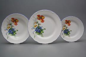 Plate set Ofelia Field flowers 36-piece HAL
