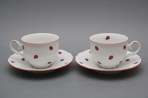 Tea cup 0,18l with saucer Ofelia Ladybirds CL