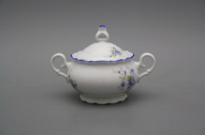 Coffee sugar bowl 0,24l Ofelia Light blue roses AL