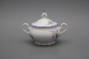 Tea sugar bowl 0,24l Ofelia Light blue roses AL