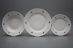 Plate set Ofelia Bouquet Sprays 18-piece AZL