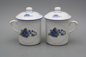 Mug Mozart 0,25l with cover Forget-me-not AL