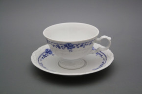 Tea cup 0,16l and saucer Maria Louise Royal Blue BB