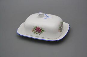 Butter dish small Rokoko Meissen bouquet AL