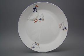 Flat round dish 30cm Rokoko Geese CML