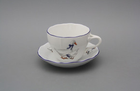 Cup high with saucer A2A1 Rokoko Geese ML