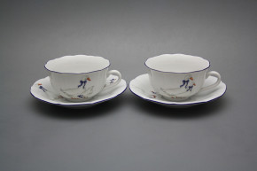 Cup low with saucer C1ZC1 Rokoko Geese ML