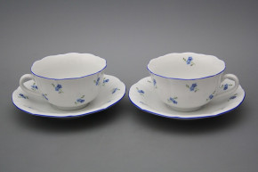 Cup low with saucer C1ZC1 Rokoko Forget-me-not Sprays AL