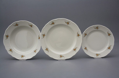 Plate set Rokoko ECRU Tea roses 36-piece BB č.1