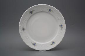 Flat plate 26cm Opera Light blue roses BB